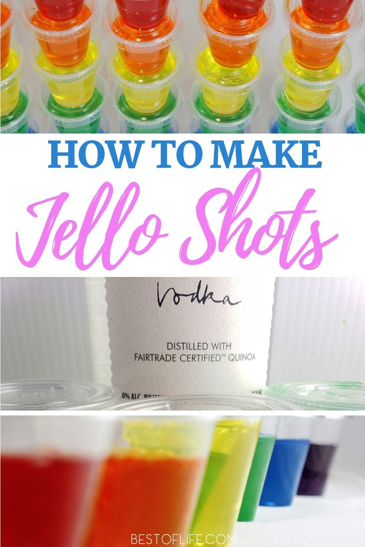How to Make Jello Shots with Vodka - The Best of Life