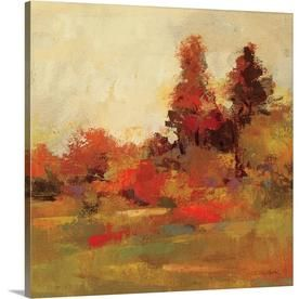 GreatBigCanvas Fall Forest IV by Silvia Vassil 24-in H x 24-in W Abstract Print on Canvas | 2219462-24-24X24