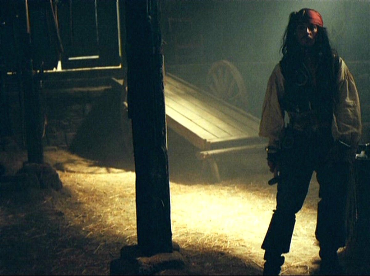 """On set of """"Pirates of the Caribbean The Curse of the Black Pearl"""""""