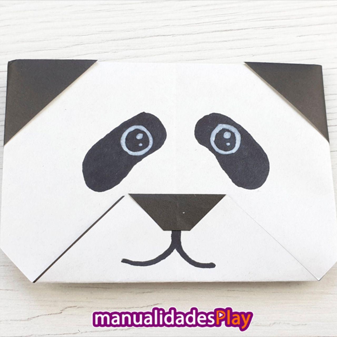 Oso Panda De Papel Origami Paso A Paso Origami Fácil Para Niños Origami Fácil Origami Paso A Paso