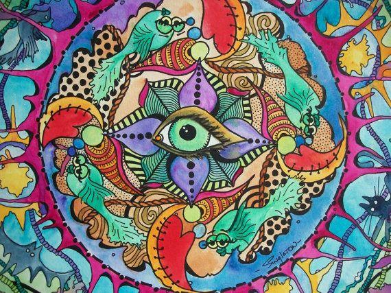 La promesa psicodélica Singleton Hippie Arte por justgivemepeace