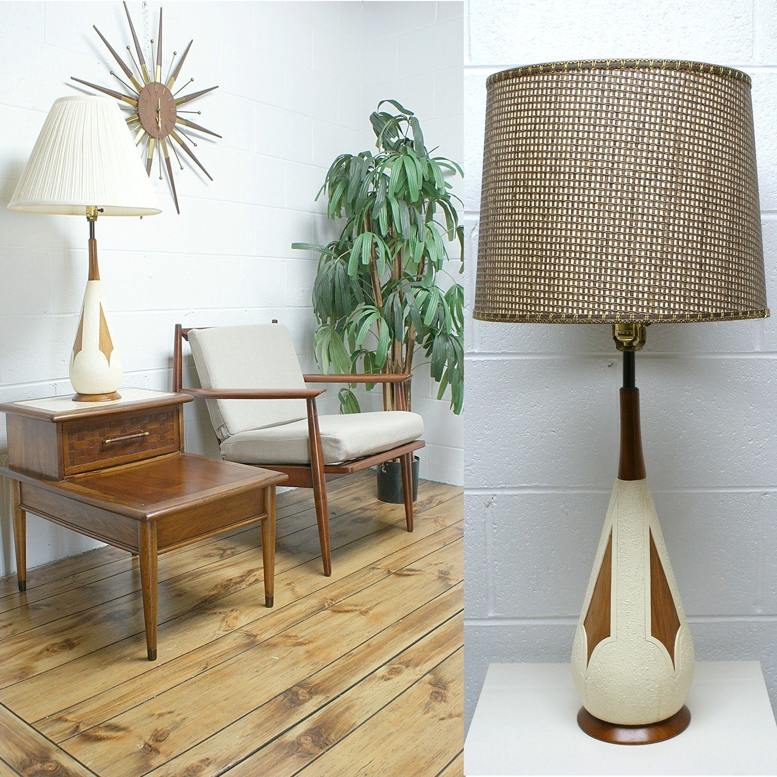 Mid Century Modern Decorative Accessories Mid Century Modern Teak And White Ceramic Table Lamp