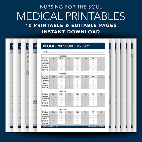 Medical Forms By Nursing For The Soul Editable Forms