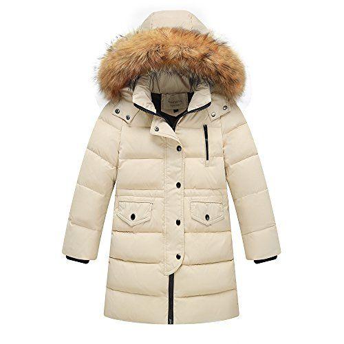 ab832ba49 Ding-dong Kid Boy Girl Winter Hooded Fur Down Parka Coat ...