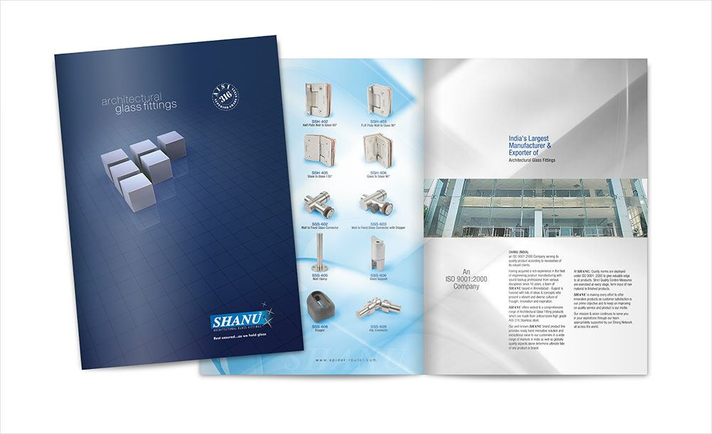 India Based Glass Fittings Company Brochure Design Incanto 01 - product brochures