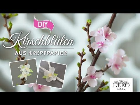 Diy papierbl ten h bsche kirschbl ten aus krepppapier deko kitchen youtube qagaldis - Youtube deko kitchen ...