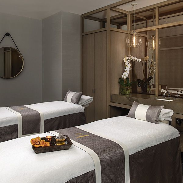 A Couples Treatment Room In Chuan Body Soul Spa Located In Midtown Nyc Home Spa Room Massage Room Design Spa Massage Room