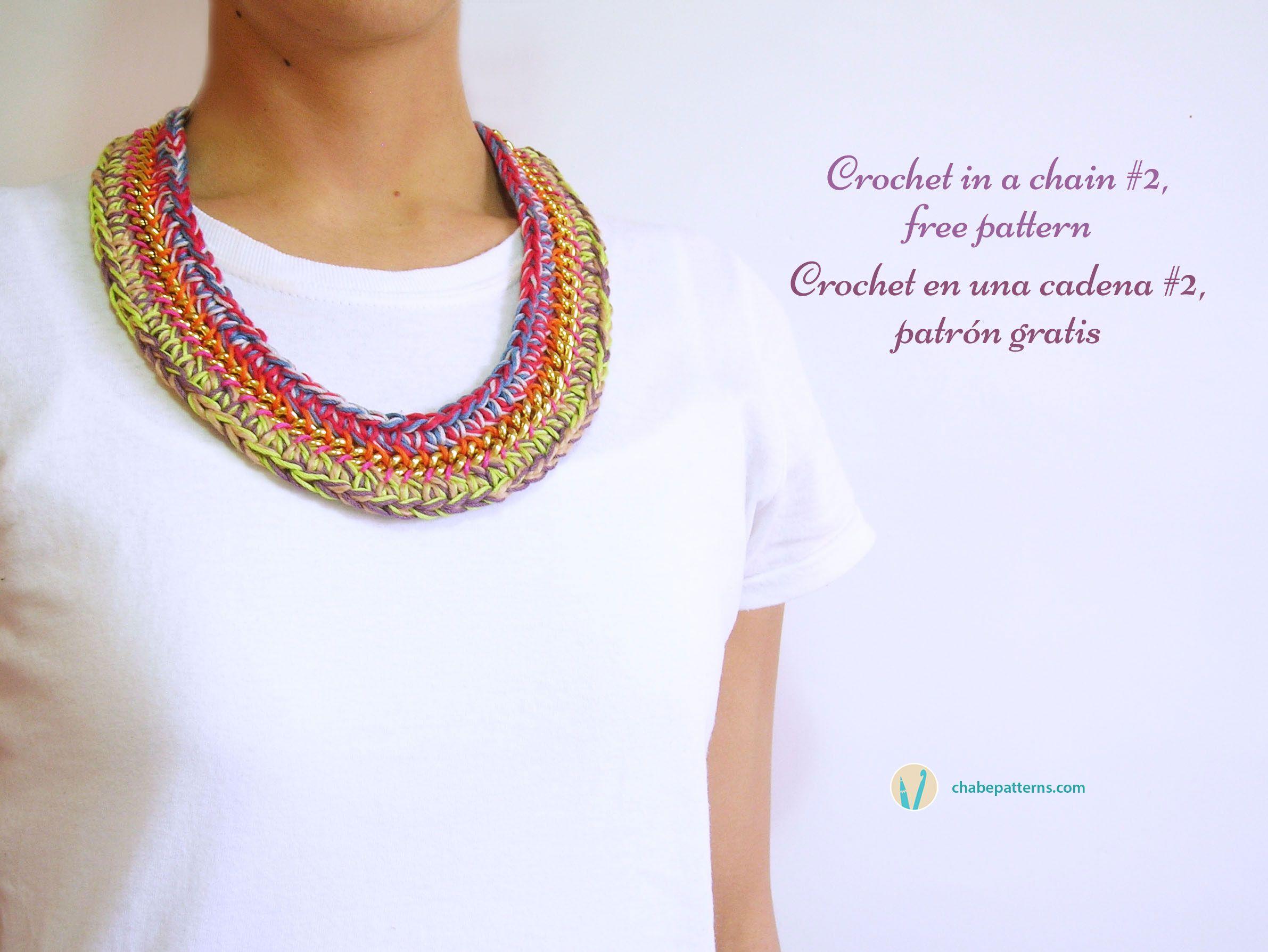 ChabeGS | Bisuteria Crochet | Pinterest | Collares, Patrón gratis y ...