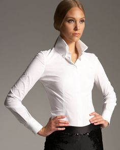 white shirts with high collar, women - Google Search | Clothes ...