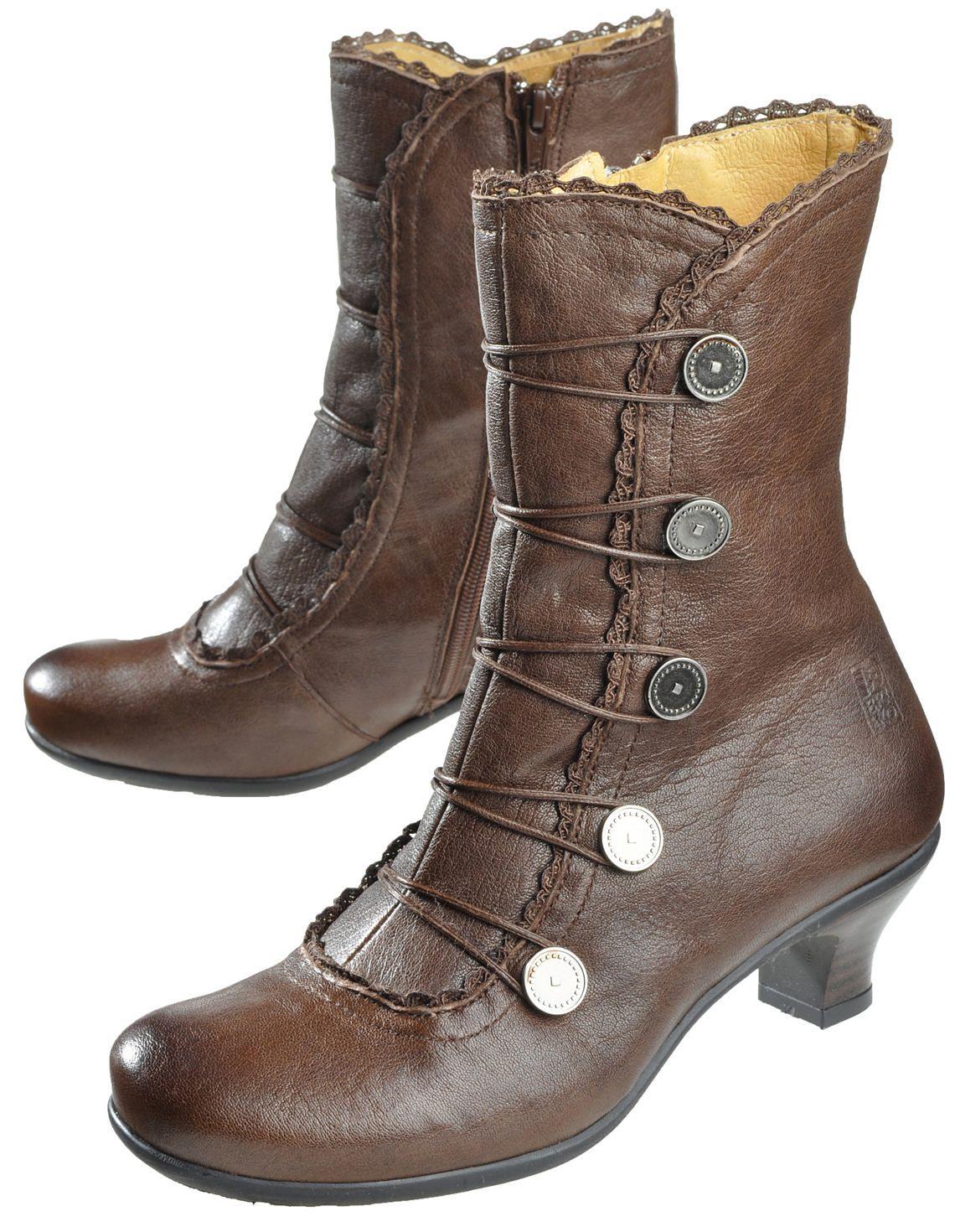 Brako 'Alba', brown Ankle Boots Deerberg | Stiefeletten