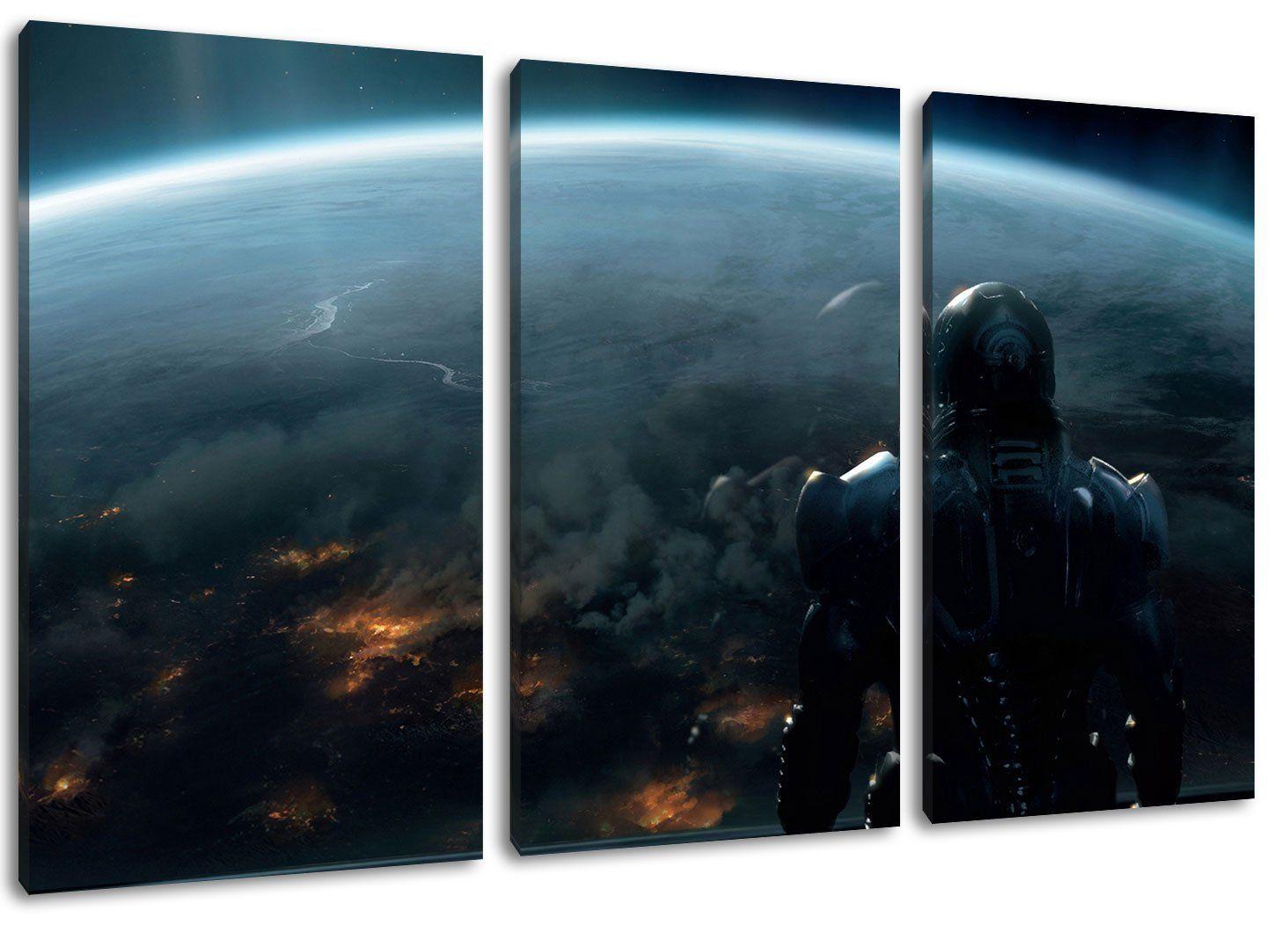 mass effect motiv 3 teilig auf leinwand gesamtformat 120x80 cm hochwertiger kunstdruck als wandbild billiger ein olbild ach plakat foto poster günstige fotoleinwand online bestellen