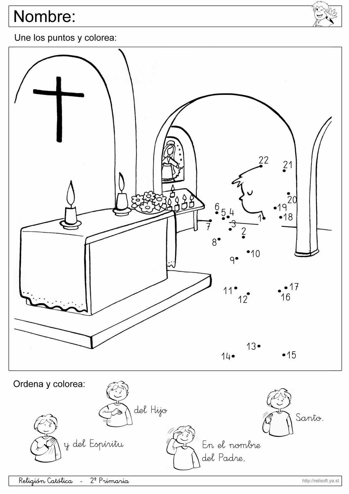 Recursos Religion Católica: Fichas 1º y 2º Primaria   jardin de ...
