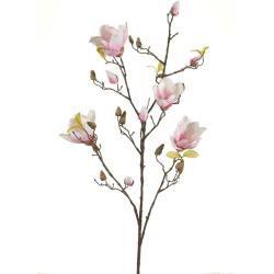 Photo of artificial magnolia branch cream white pink H. 105cm emerald emerald Emerald