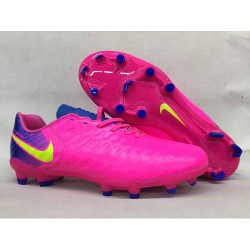 online store 5243f e2f65 Botas de fútbol de hombre Nike Tiempo Legend VII FG Mens Rosa Amarillo Azul
