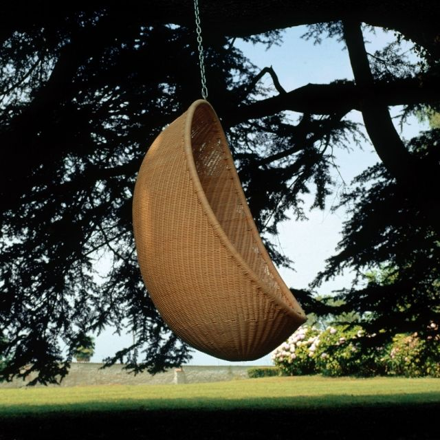 geflochten sessel design-hängend-outdoor lounge möbel Ideen - ausenbereich hangekorbsessel egg