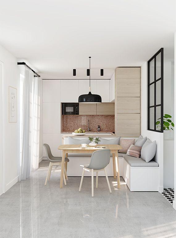 Salle à manger E-design project: Small kitchen design by Eleni ...