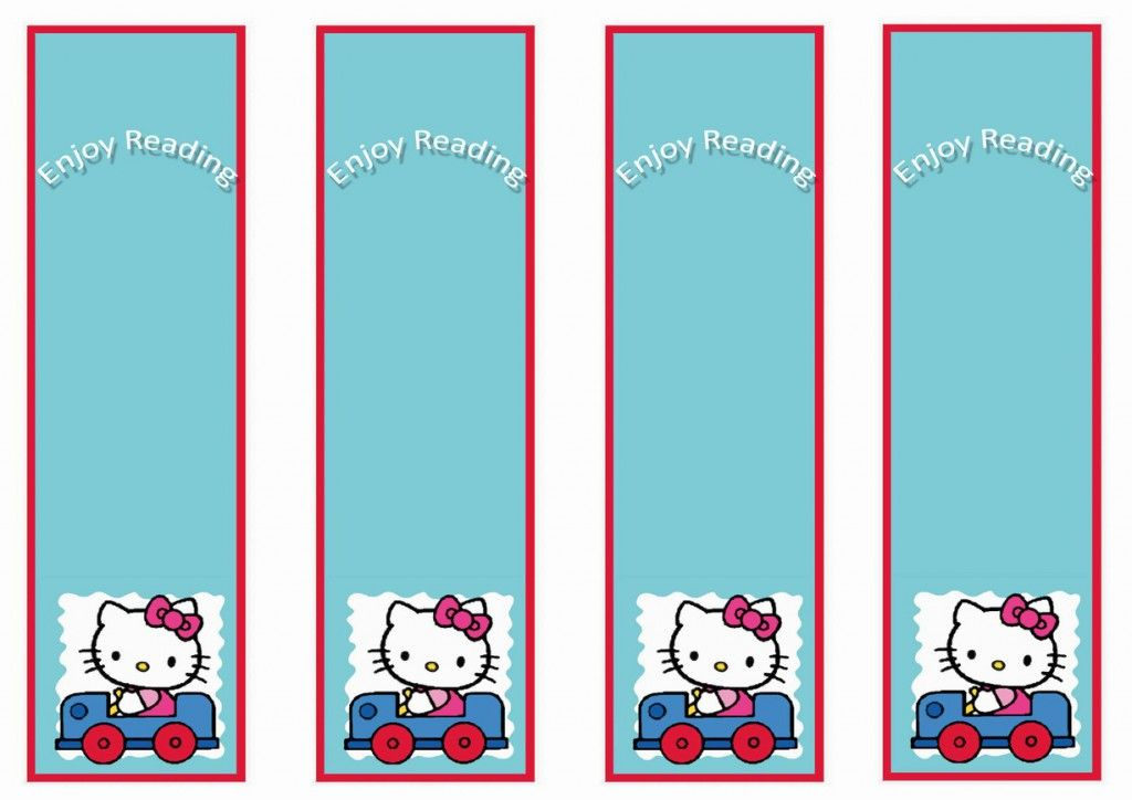 Hello Kitty Bookmarks Birthday Printable Hello kitty printables