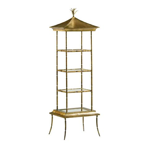 Baker Living Room Pagoda Etagere 8595 At Hickory Furniture Mart And  Nationwide At Hickory Furniture Mart In Hickory, NC