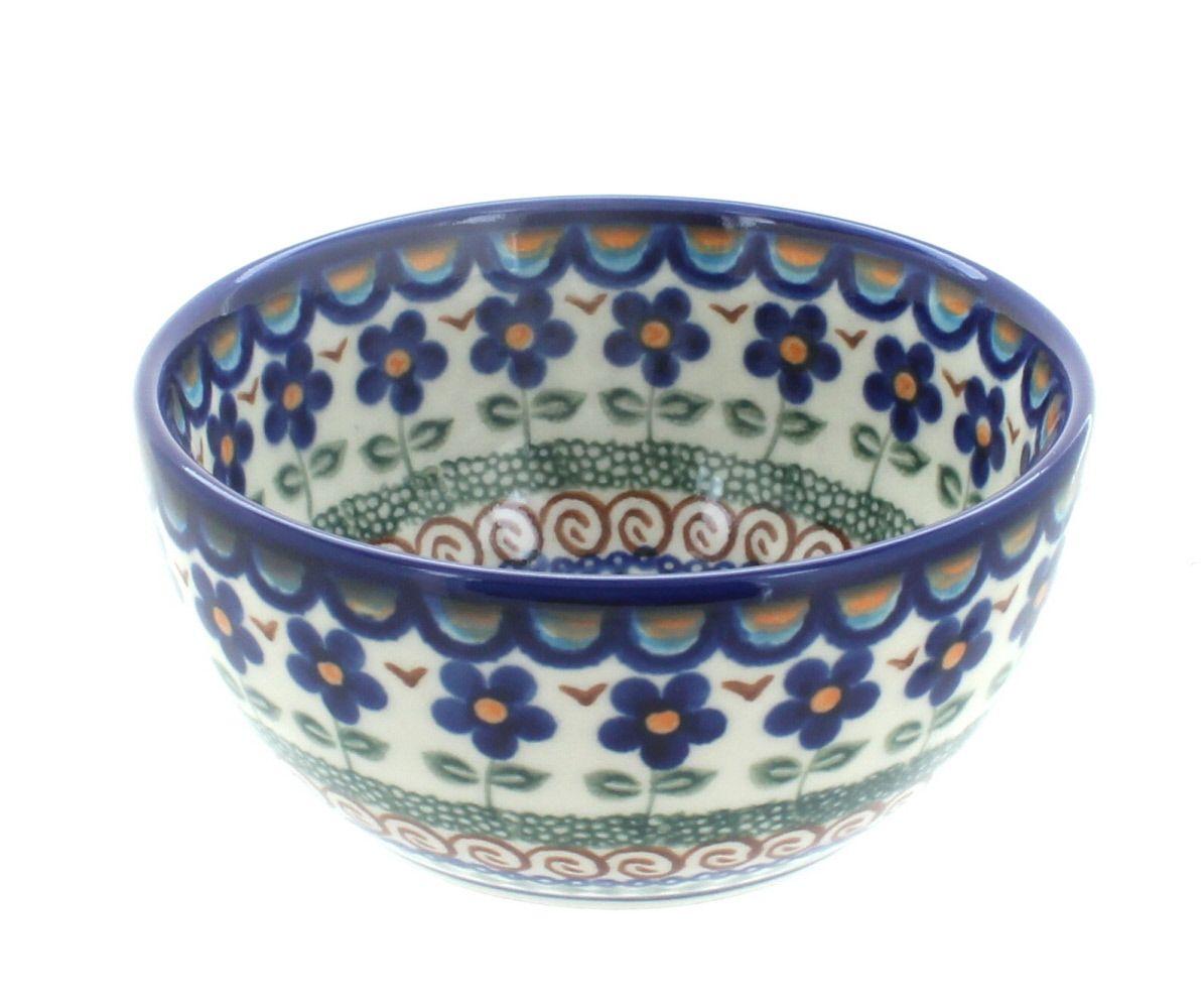 Aztec Flower Dessert Bowl Polish Pottery Pottery
