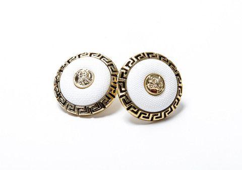 $22 vintage Versace stud earrings @sosorella.com