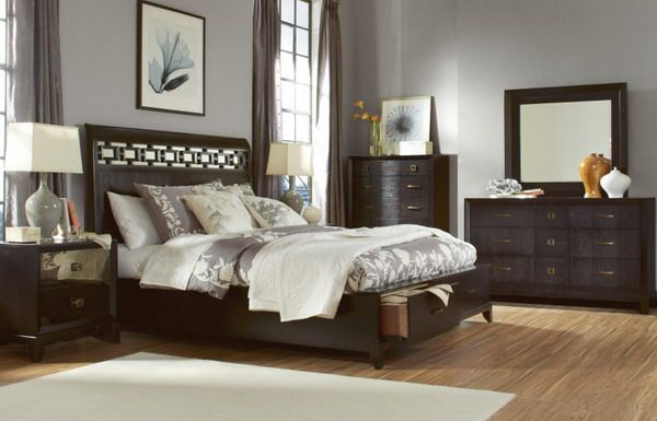 Beautiful bedrooms on pinterest modern bedrooms master for Bedroom ideas with black furniture