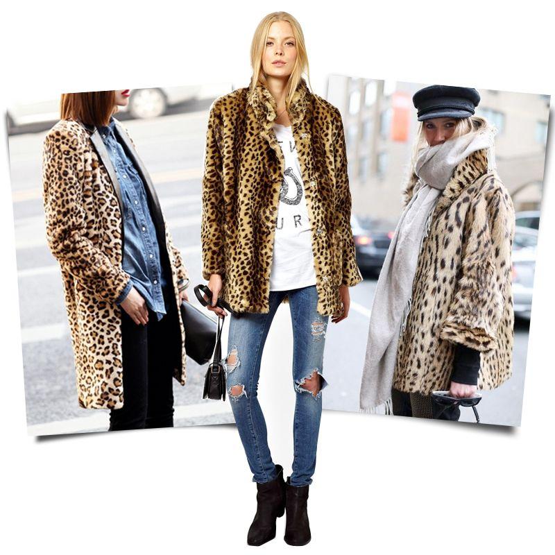 25 Fierce Ways to Style a Leopard Coat | Kleding, Kleding