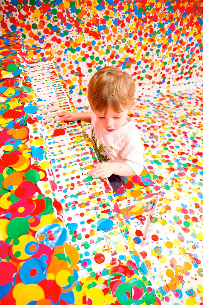 The Obliteration Room by Yayoi Kusama at GoMA in Brisbane | Une ...