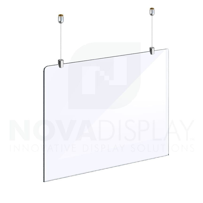 Cable Suspended Acrylic Sneeze Guard Protection Shield For Office Store In 2020 Sneeze Guard Sneeze Guards Clear Acrylic