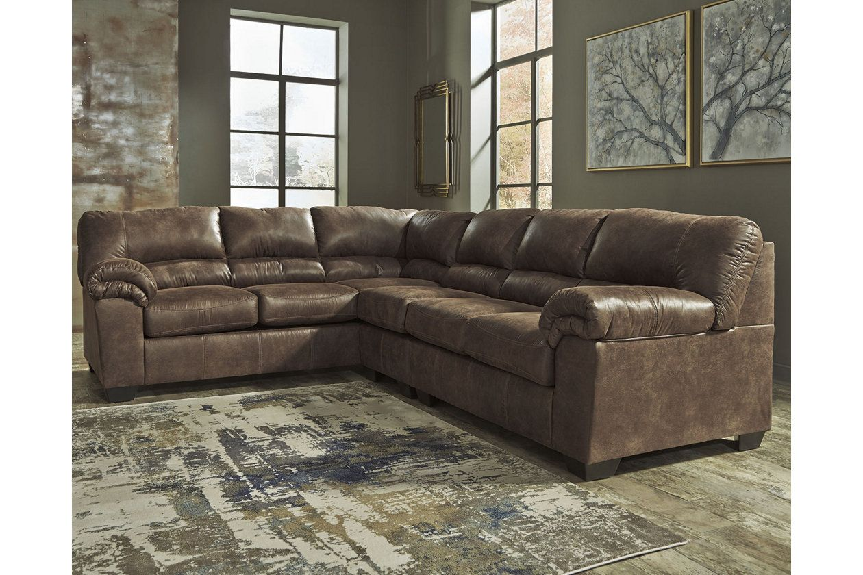 Best Bladen 3 Piece Sectional Faux Leather Sectional Fabric 640 x 480