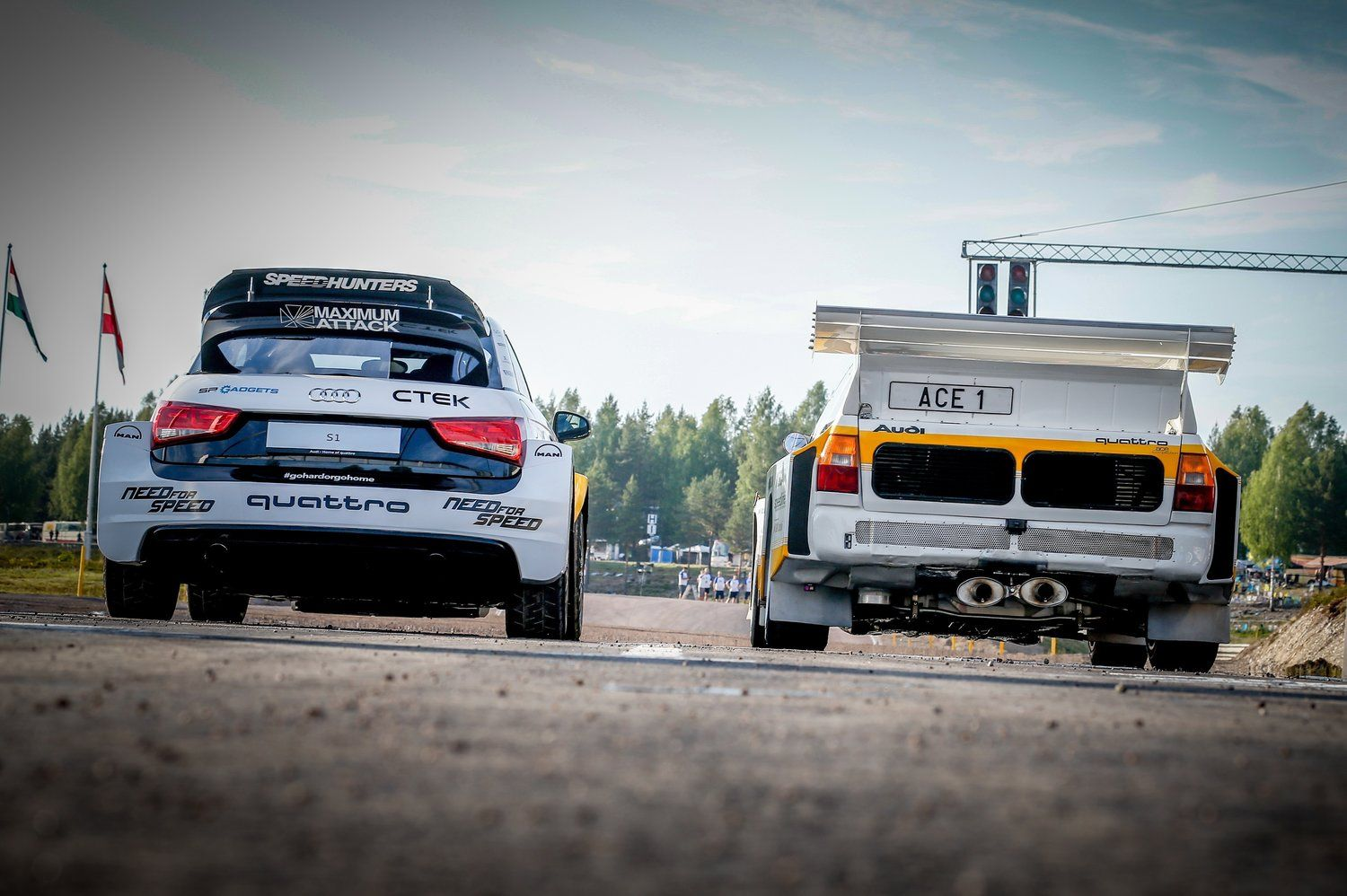 Watch the Swedish racers pit a modern rallycross car against a Group ...