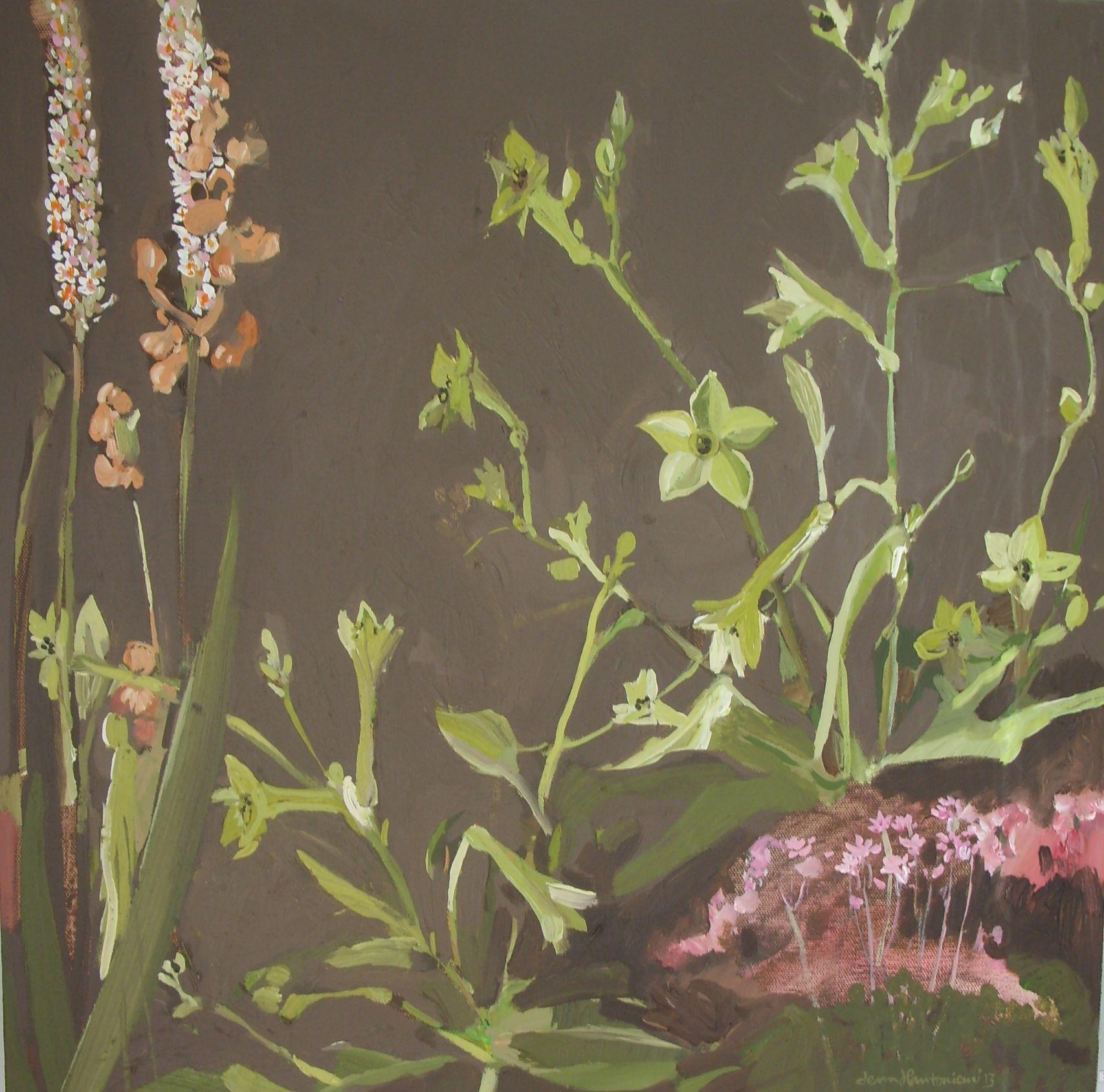Tobacco painting by Lena Hautoniemi