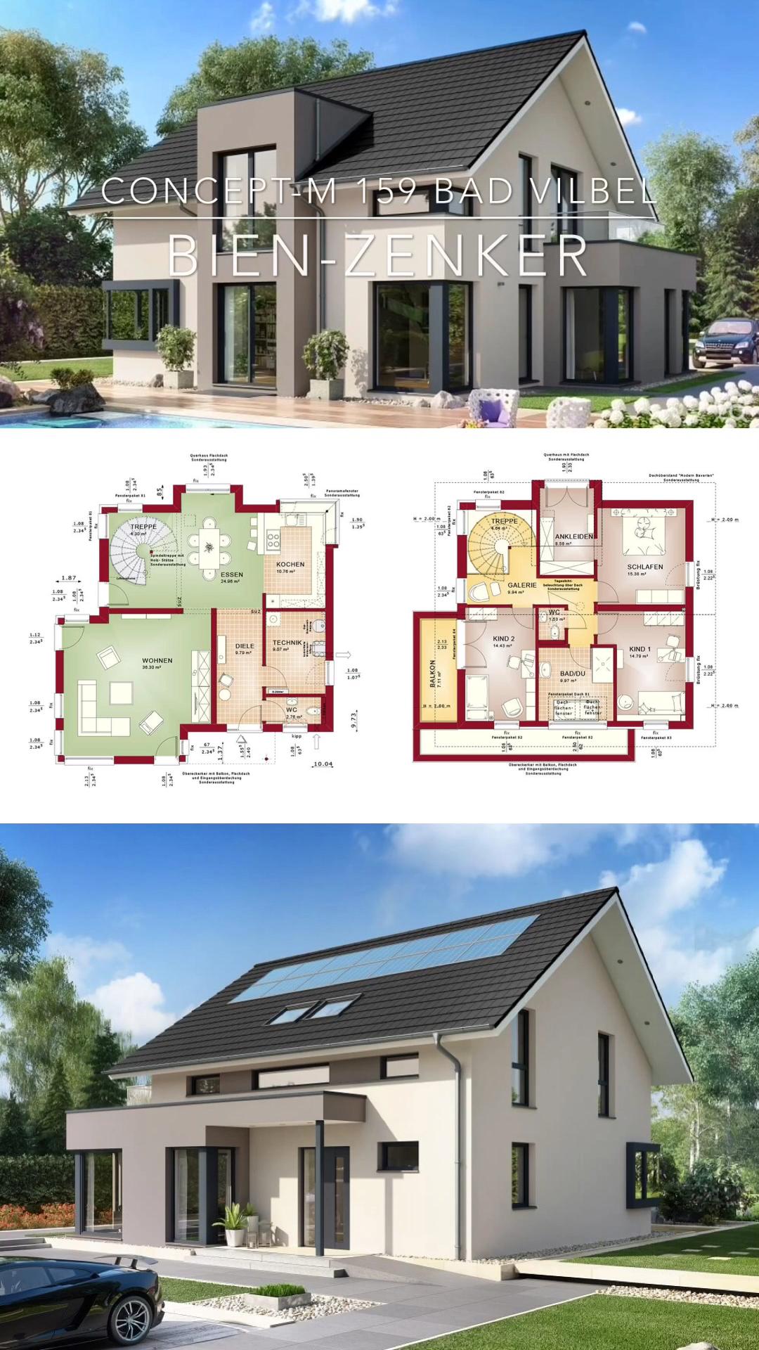 Photo of Einfamilienhaus klassisch mit Satteldach & Erker – Haus Design Ideen innen & aussen mit Grundriss