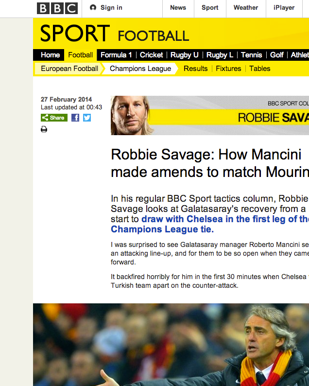 140227 Bbc Sport Robbie Savage Sport Football