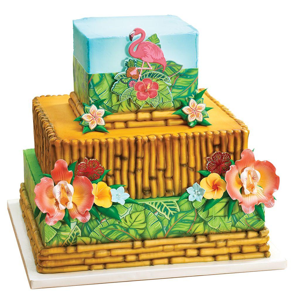 Polynesian Stacked Cake Design for Cake Decorators Baby