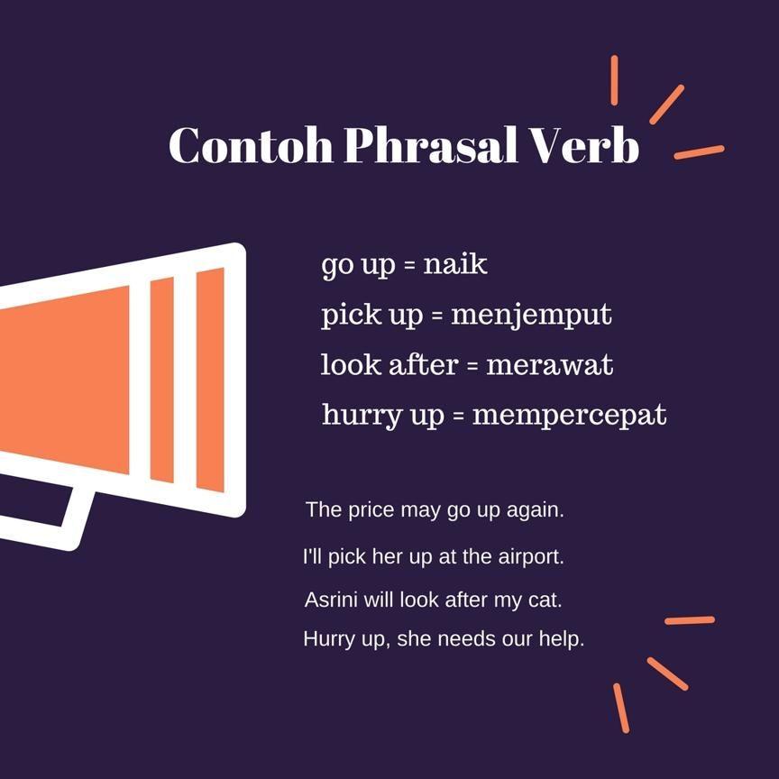 Contoh Phrasal Verb Dan Contoh Kalimat Beserta Artinya Belajar Bahasa Inggris Kosakata Belajar