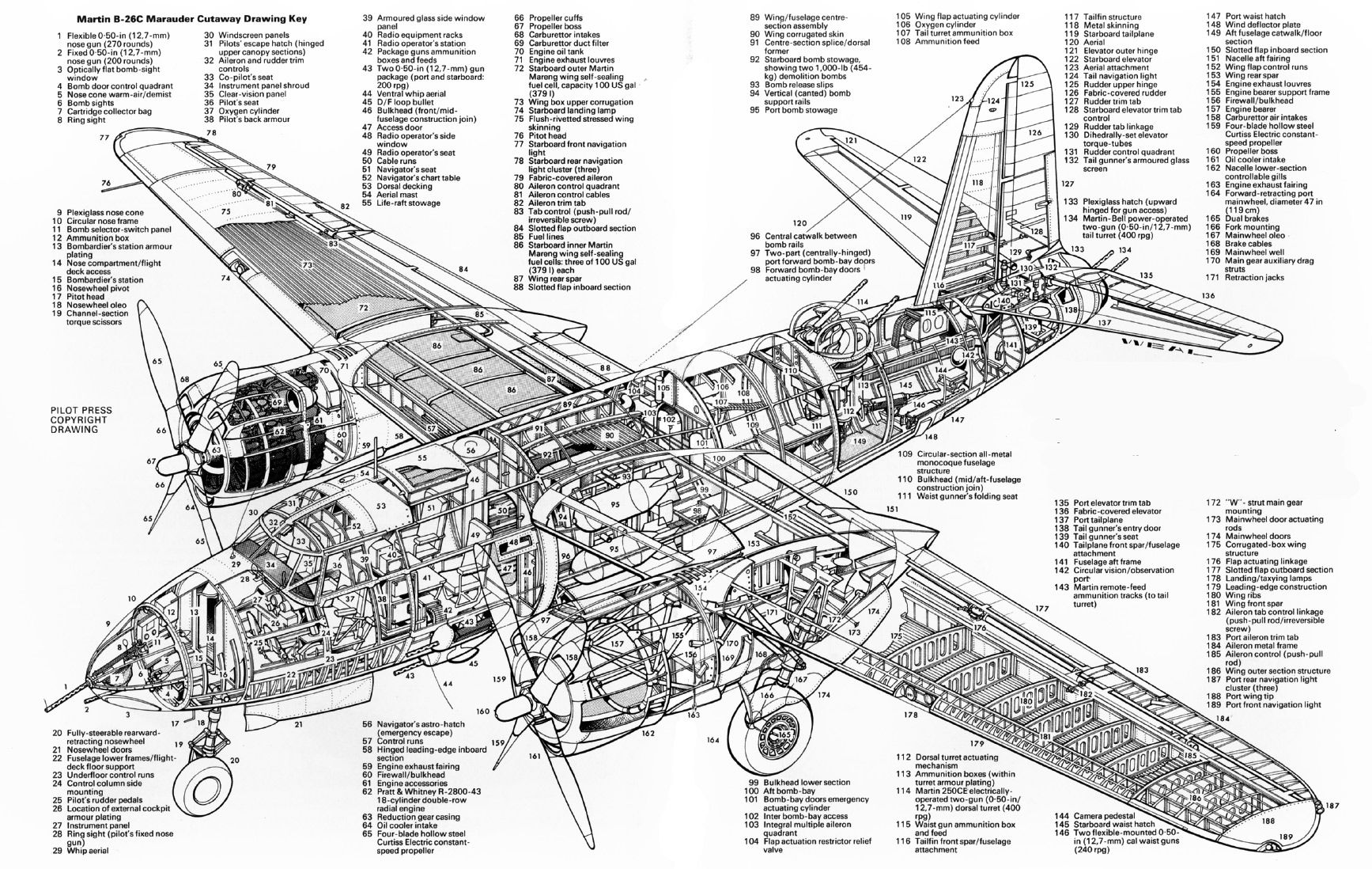 Military Aircraft, Ww2 Aircraft, Aircraft Parts, Martin Aircraft, Technical  Drawings, Technical