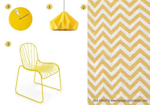selección mobiliario amarillo