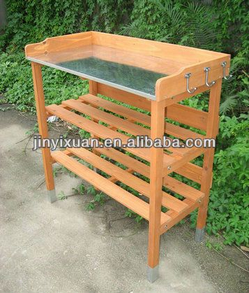 Floral Workbench | Fatures Of Wooden Flower Pot Table /Garden Wooden Work  Bench