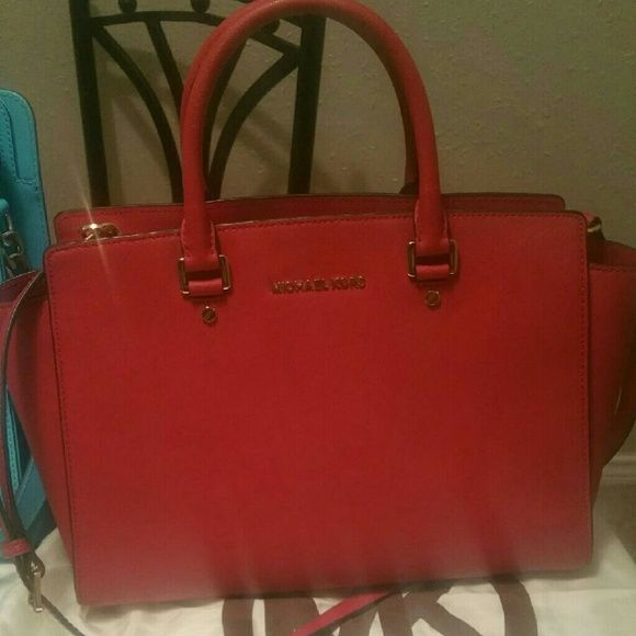 Red Selma Large Selma Michael Kors Bags