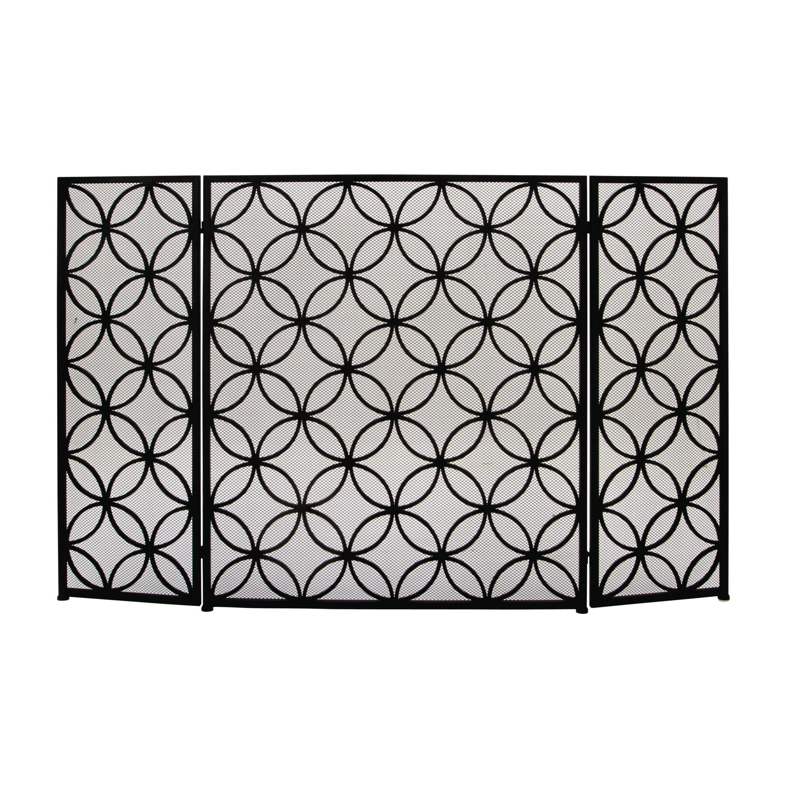 Groovy Benzara Striking Metal 48 Inch X 30 Inch Fire Screen Dcor Interior Design Ideas Clesiryabchikinfo