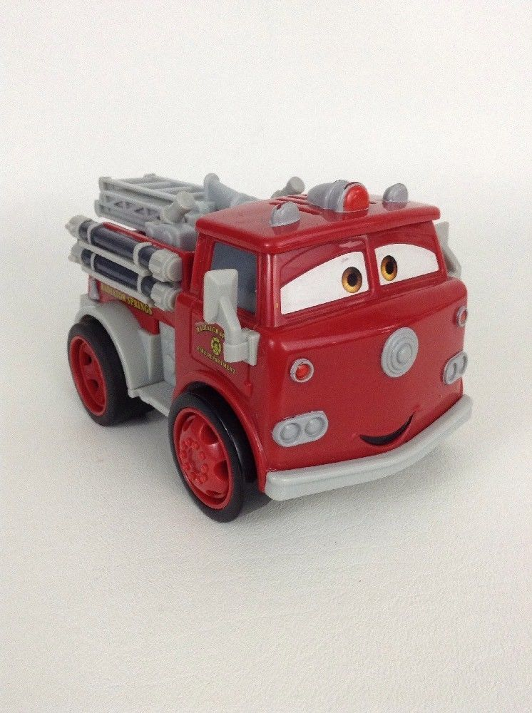 Disney Pixar Cars Fisher Price Shake N Go Red Firetruck W
