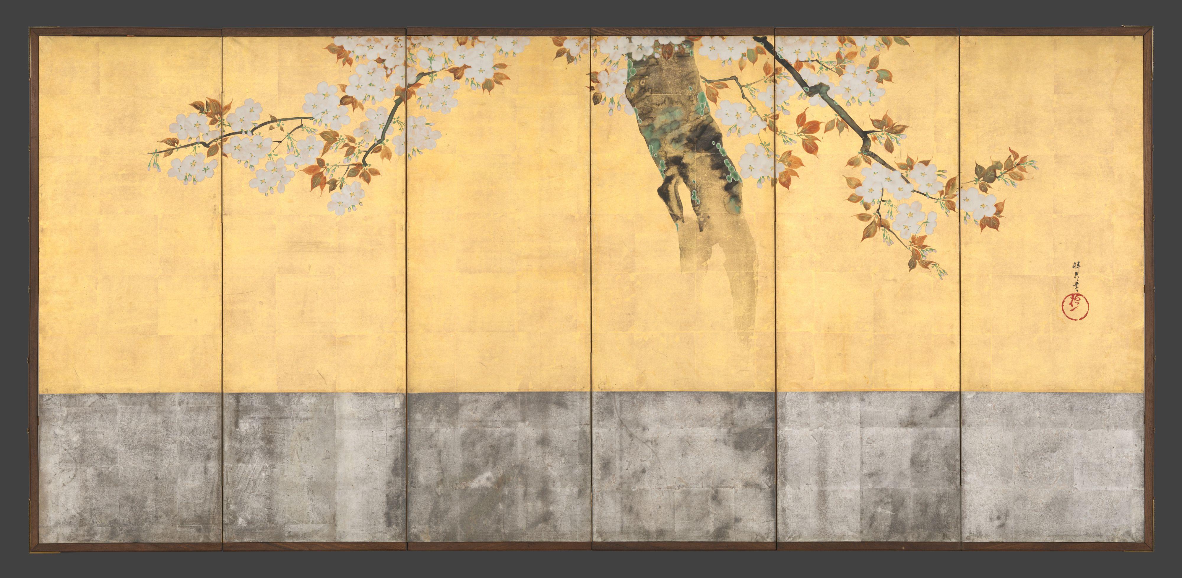 Sakai Hōitsu | Blossoming Cherry Trees | Japan | Edo period (1615 ...