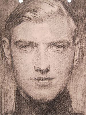 Robert Gould Shaw III by John Singer Sargent. Gorgeous work. Gorgeous subject.