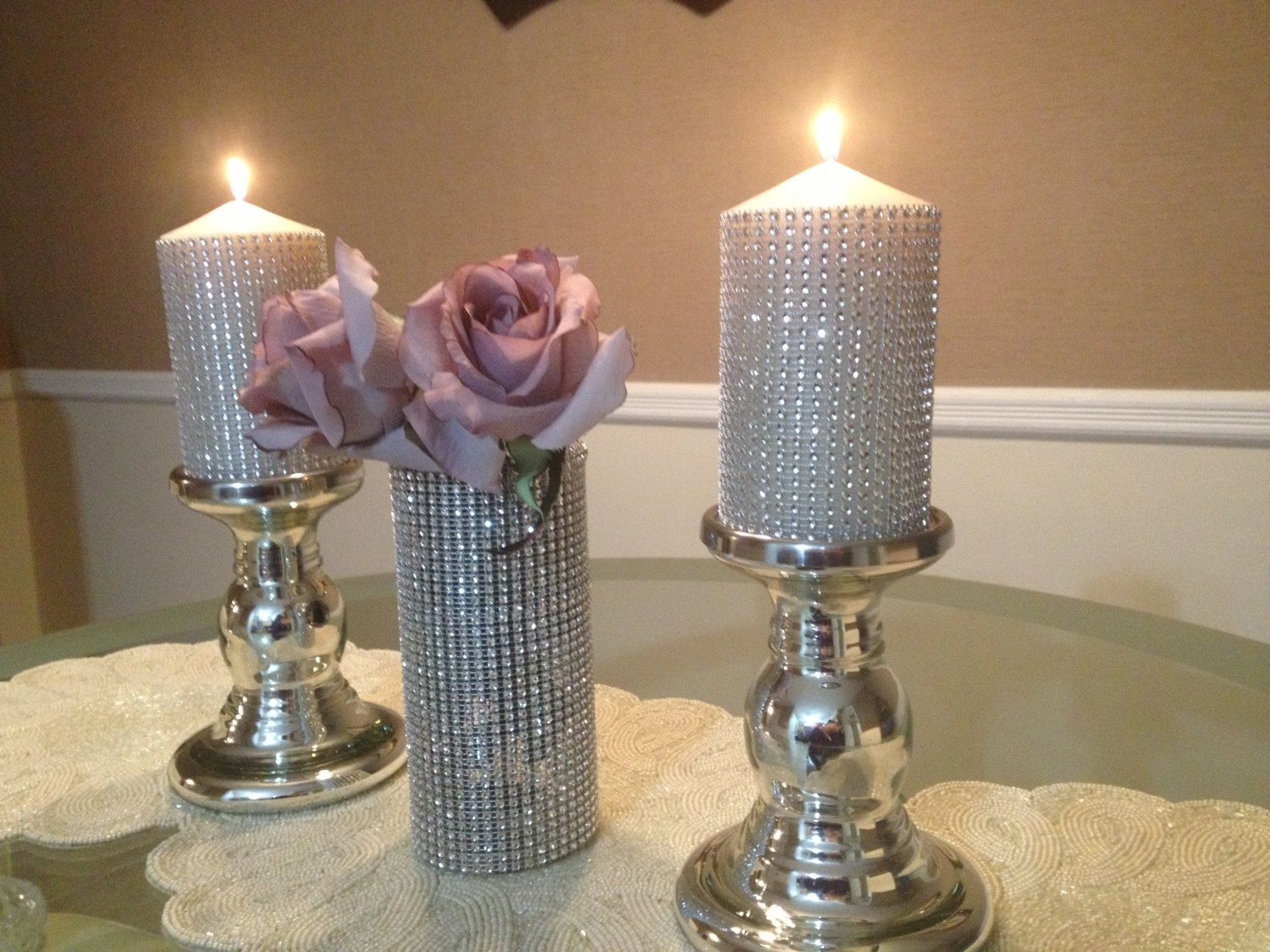 Bling Wedding Decor Crystal Centerpieces Rhinestone