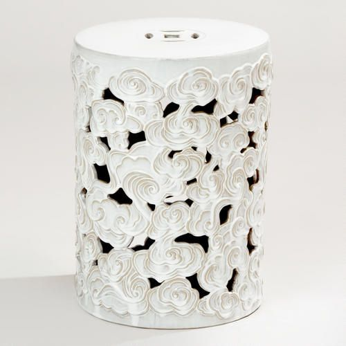 WorldMarket.com: Tibetan Cloud Ceramic Drum Stool Use A Stool As A Table  Thatu0027s