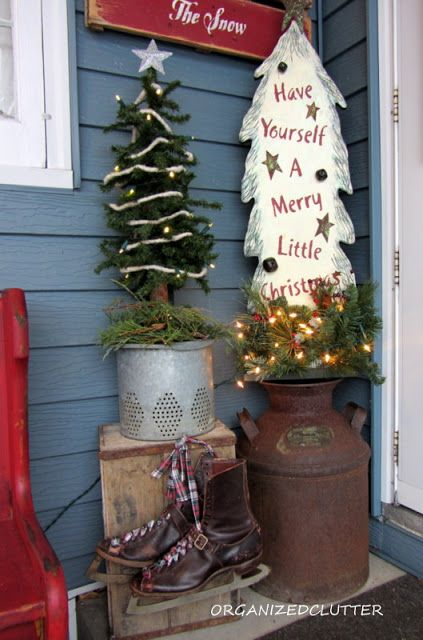 Rustic christmas porchee stuffed in a minnow bucket and a rusty rustic christmas porchee stuffed in a minnow bucket and a rusty milk solutioingenieria Images