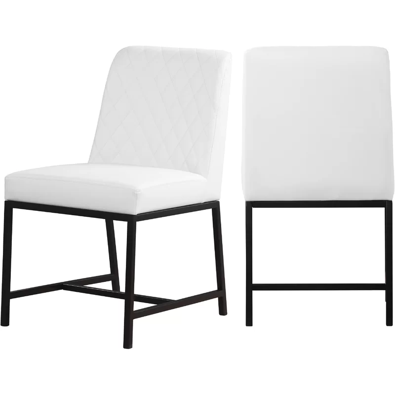 Bassick Upholstered Dining Chair In 2020 Dining Chairs Black