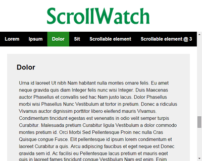 ScrollWatch – jQuery Plugin for Determining Active Sections