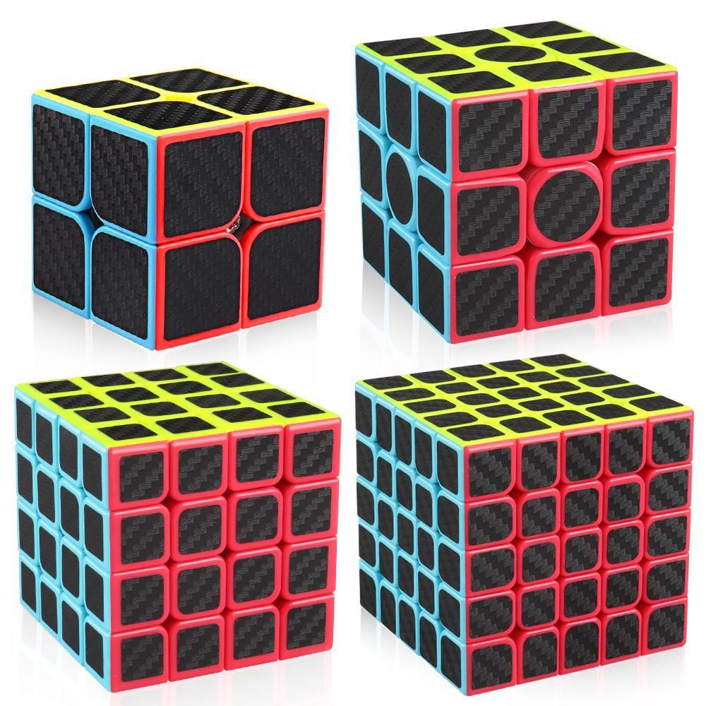 Rubiks cube Magic Cube// 3D Puzzles Cube With Vivid Color Carbon Fiber Sticker