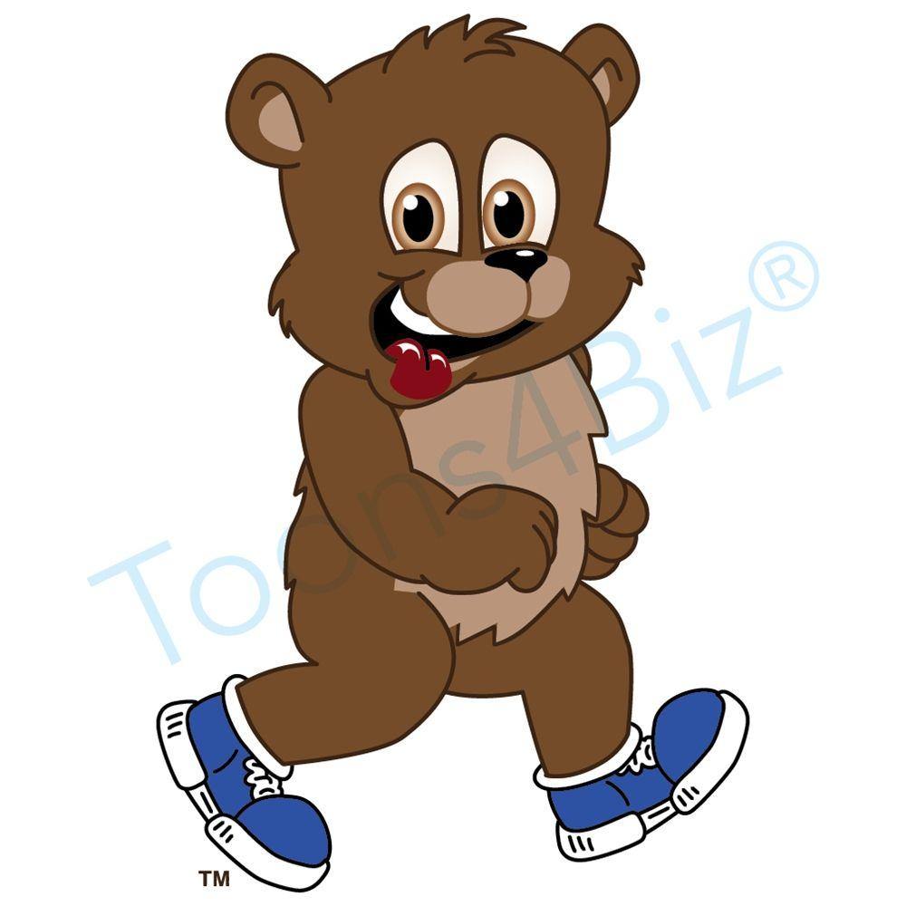 Bear Mascot with Tennis Shoes Mascot, School mascot, Bear